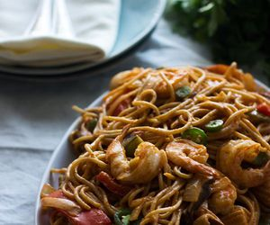 curry, food, and noodles image