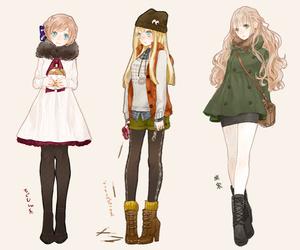 anime, anime girl, and fashion image
