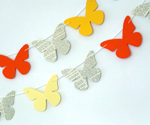 spring garland, butterfly garland, and butterfly bunting image