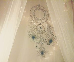 boho, dreamcatcher, and feathers image