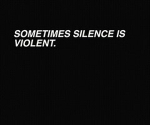 quote, grunge, and silence image