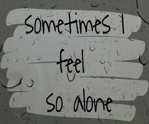alone, depression, and feelings image
