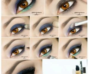 eye makeup, makeup, and eyes image