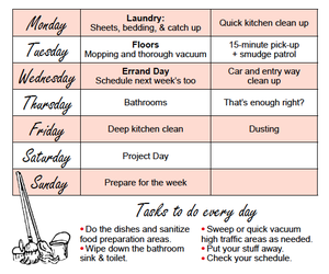 room cleaning, room tips, and cleaning task image