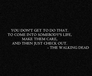 the walking dead, quote, and twd image