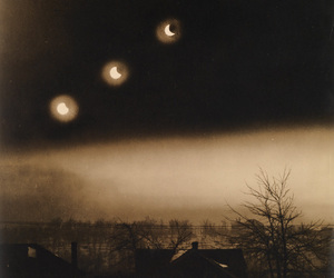 eclipse, sepia, and moon phase image