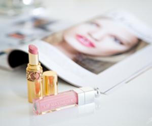 lipstick, magazine, and beauty image
