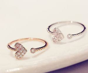 heart, rings, and ring image