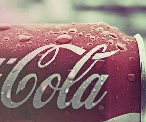 coca cola, drink, and red image
