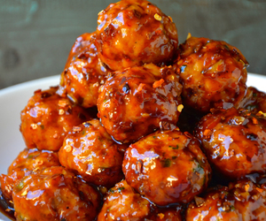 asian, Chicken, and meatballs image