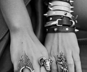 cool, grunge, and jewellery image