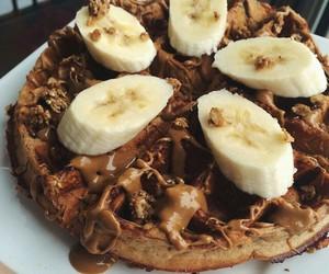 chocolate, food, and waffles image