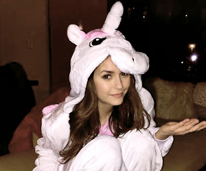 Nina Dobrev, unicorn, and ariana grande image