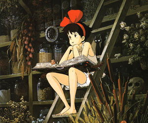 kiki's delivery service, kiki, and anime image