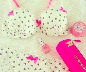 pink, Victoria's Secret, and bra image