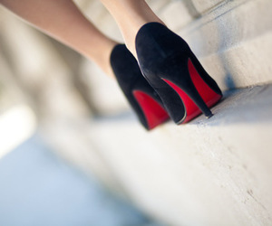black, fashion, and red image