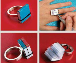 book, ring, and diy image