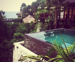 pool, paradise, and house image