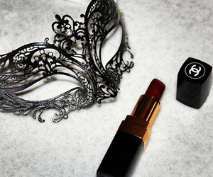 chanel, lipstick, and mask image