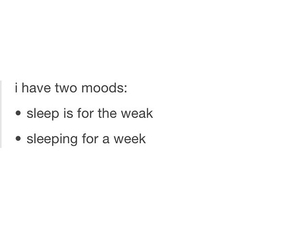 asleep, weak, and funny quote image
