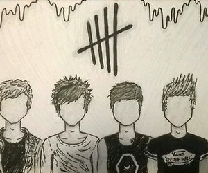 5sos, art, and luke hemmings image