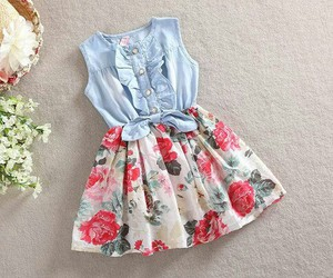dress, jeans, and kids image
