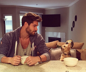 dog, nick bateman, and boy image