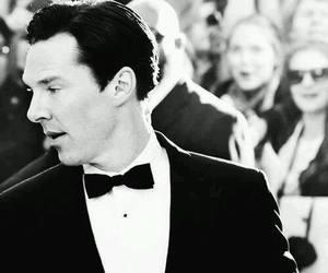 benedict cumberbatch, black and white, and british image