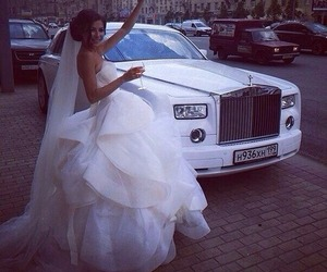 wedding, dress, and car image