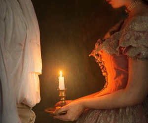 candle, dress, and medieval image