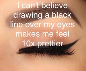 eyeliner, fashion, and funny image