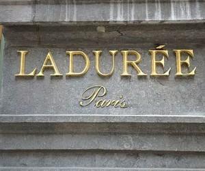 laduree, paris, and gold image