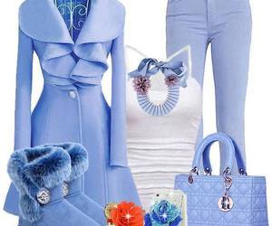 bag, blue, and coat image