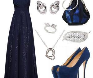 bag, blue, and high heels image