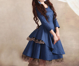 dress, medieval, and blue image