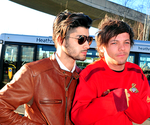 one direction, zayn malik, and louis tomlinson image