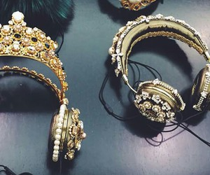 headphones, pearls, and jewelry image