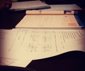 book, maths, and Paper image