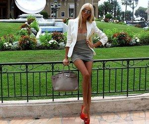 fashion, blonde, and skinny image