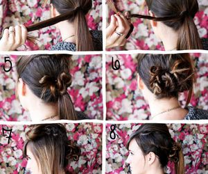 diy, hairstyle, and hair tutorial image