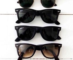 sunglasses, summer, and black image
