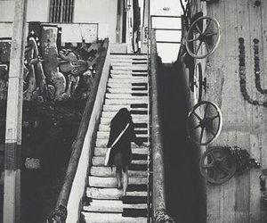 piano, stairs, and music image