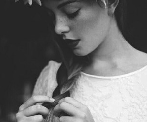 fashion, hairstyles, and flowers image