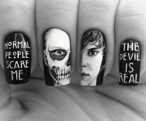dark, Devil, and nails image
