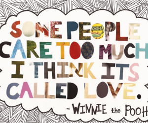 quote, love, and winnie the pooh image