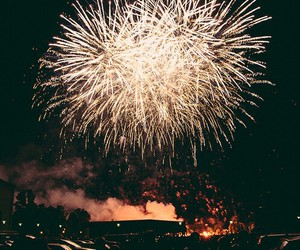 beautiful and fireworks image