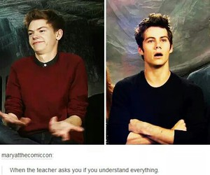 school, funny, and the maze runner image