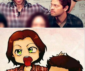 supernatural, sam winchester, and castiel image