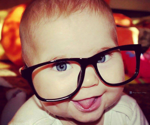 baby, cute, and glasses image