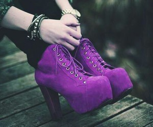 purple and shoes image